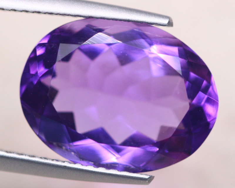 6.17ct Natural Purple Amethyst Oval Cut Lot D453