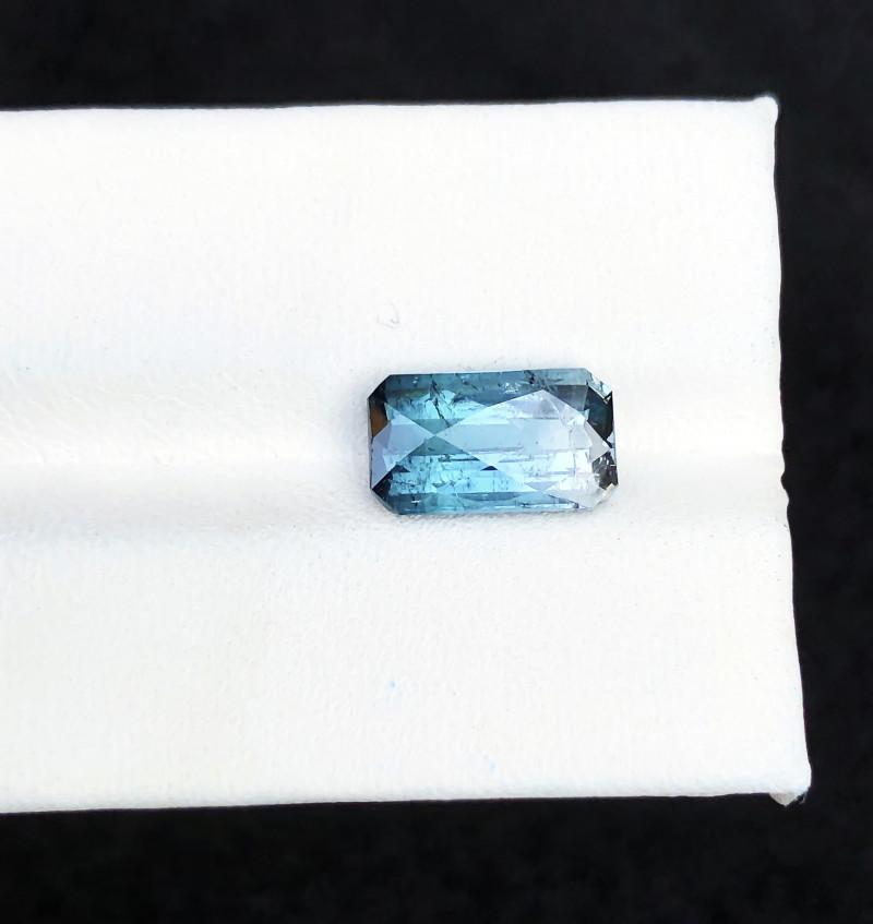 3.40 Ct Natural Blue Bi Color Transparent Tourmaline Gemstone