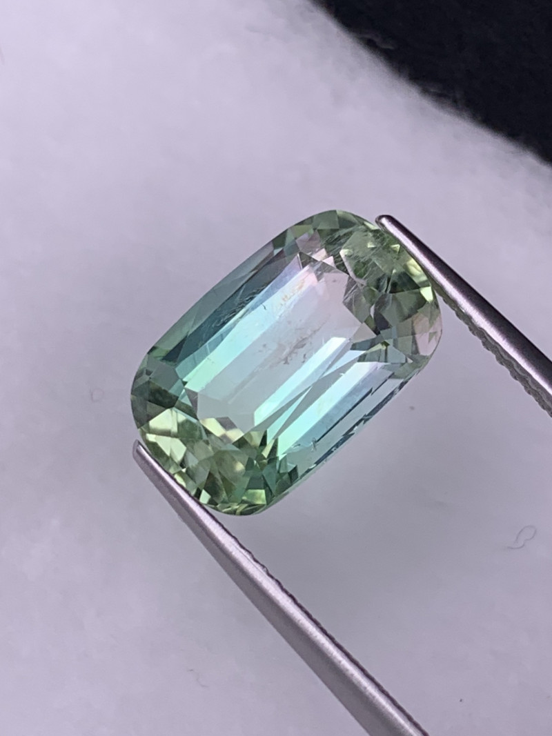 6.12 Cts Rare Pink/Blue/Green Color Afghanistan Natural Tri Color Tourmalin