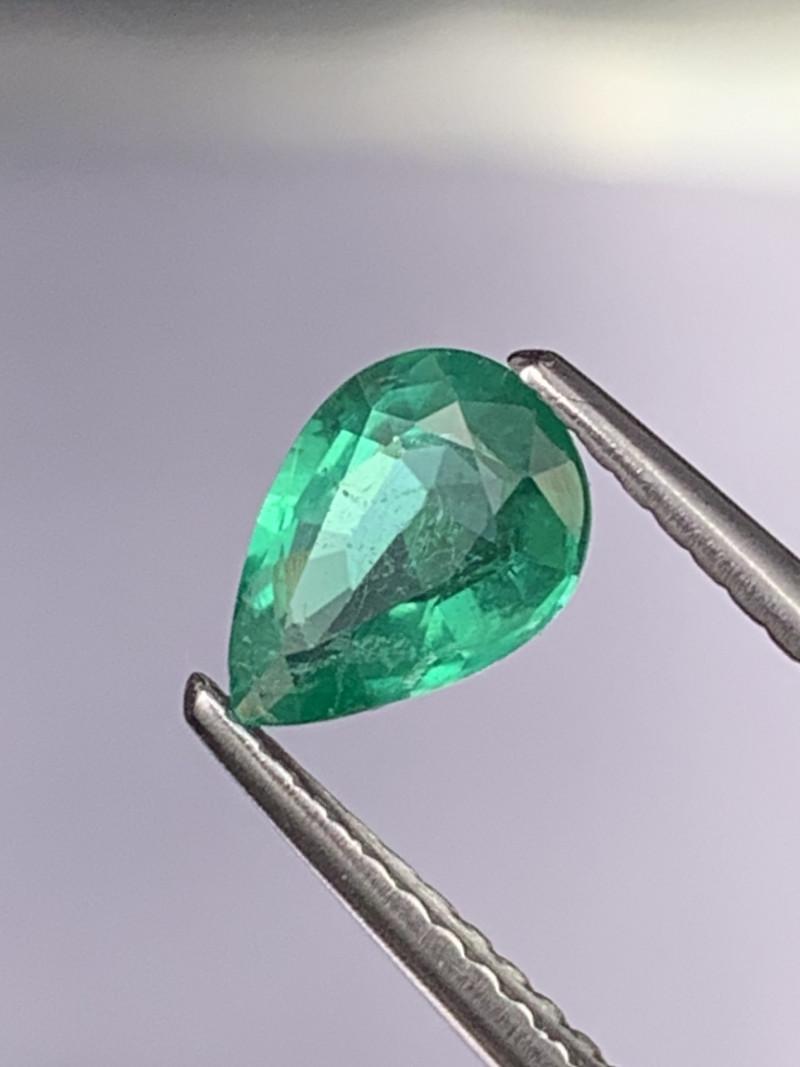 AAA Grade Vivid Green Natural Zambian Emerald 0.72 Cts