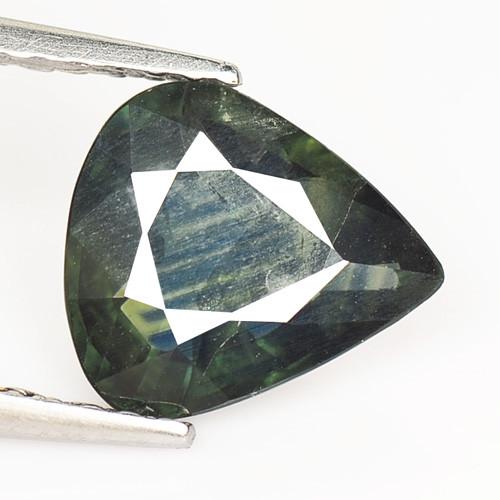 Sapphire 1.46 Cts Amazing Rare Natural Fancy Bluish Green Loose Gemstone