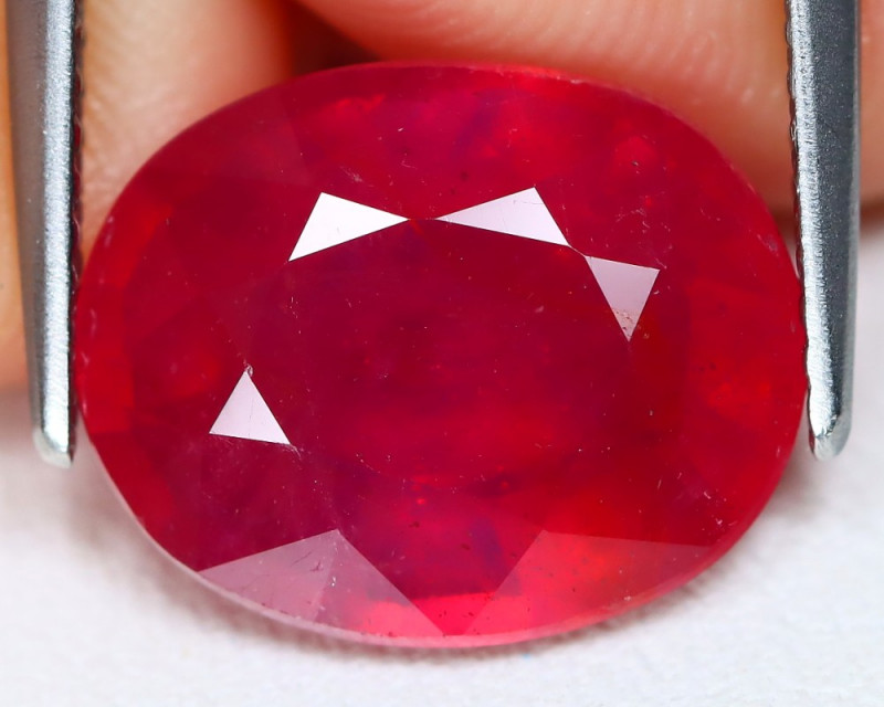 Red Ruby 6.99Ct Oval Cut Pigeon Blood Red Ruby AB1741