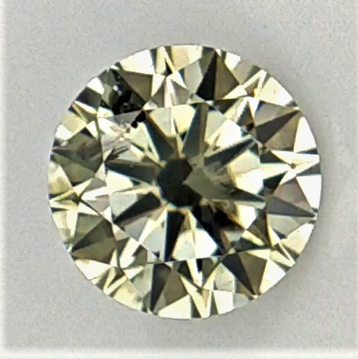 0.34 cts ,Extremely Rare Grey /Yellow /Green overtone Diamond , Loose Natur