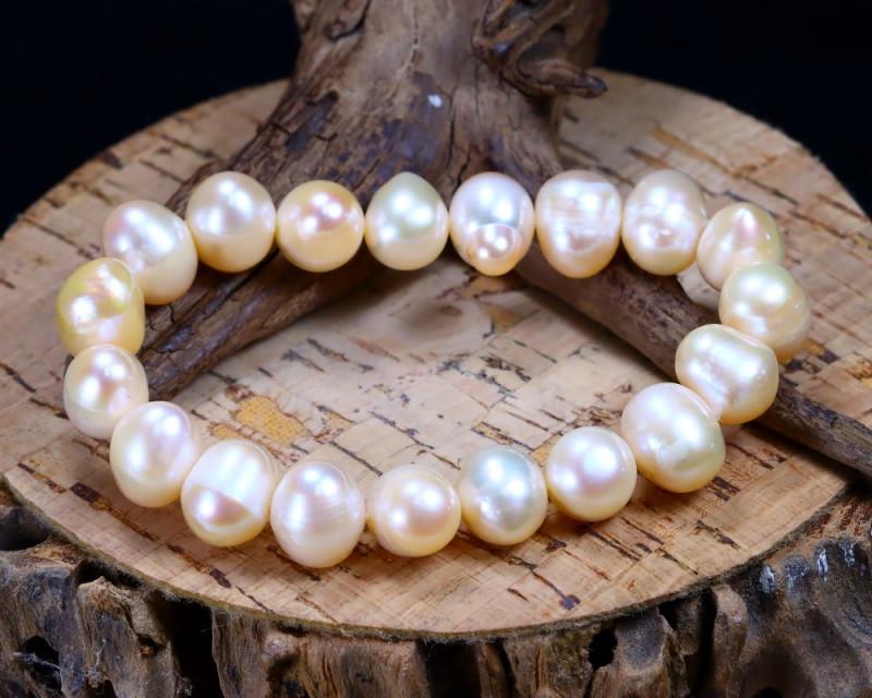 143.30Ct Natural Fresh Water Pearl Beads Bracelet AB1853