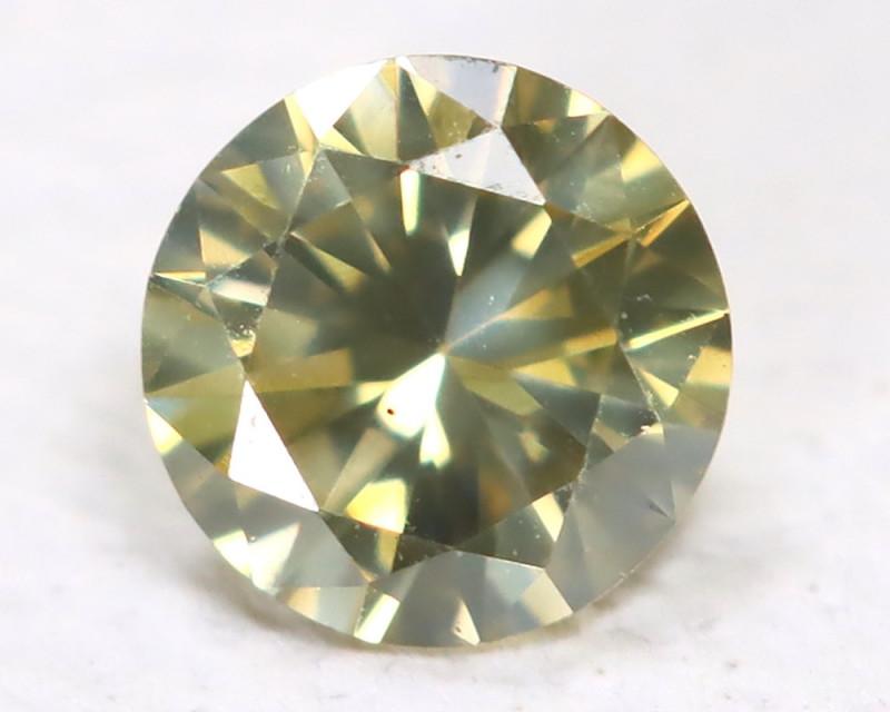 Yellowish Green Diamond 0.10Ct Natural Untreated Fancy Dimond AB1871