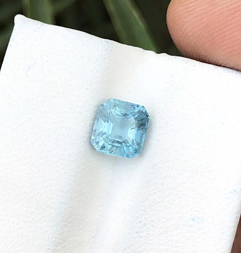1.60 Ct Natural Blue Transparent Tourmaline Gemstone