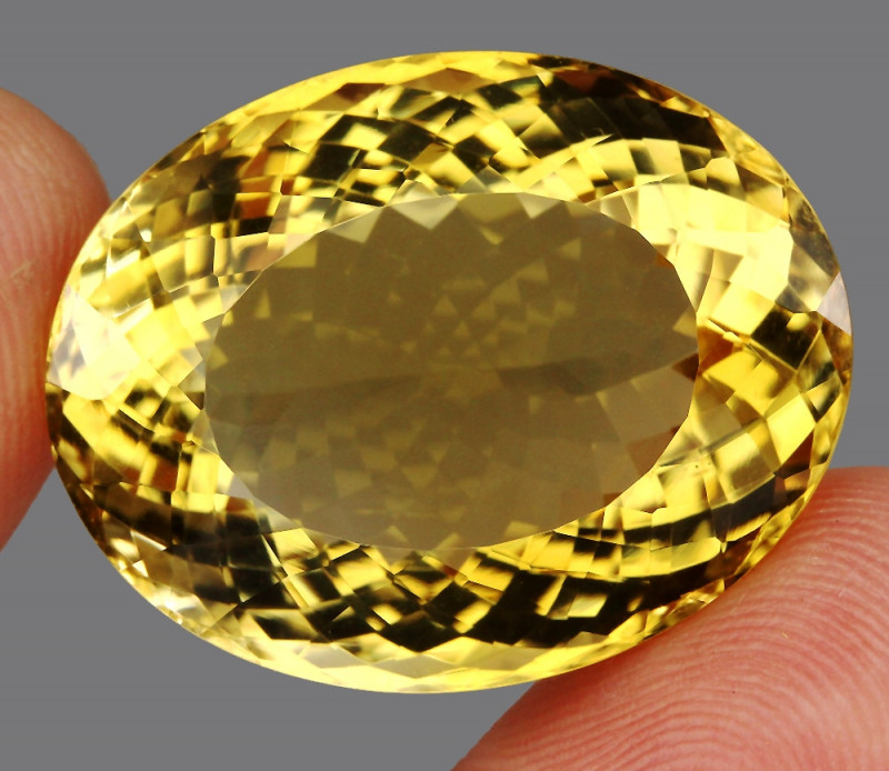 60.26 ct. Top Quality Natural Earth Mined Golden Yellow Citrine Brazil