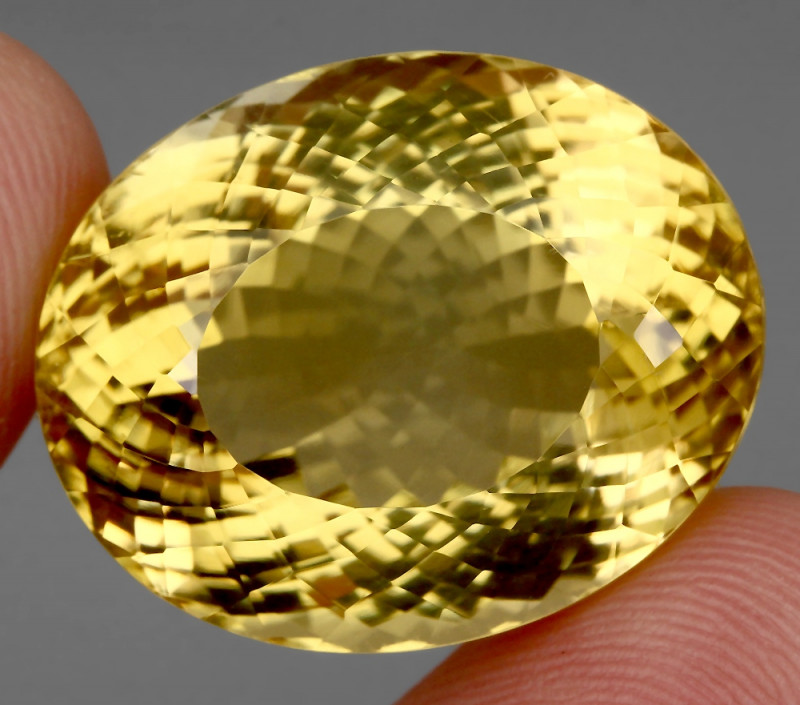 60.51 ct. Top Quality Natural Earth Mined Golden Yellow Citrine Brazil