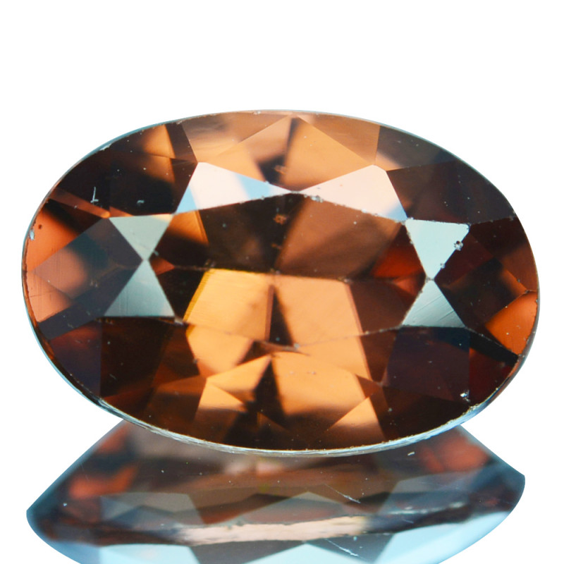 ~BEAUTIFUL~ 2.41 Cts Natural Imperial Brown Zircon Oval Cut Tanzania
