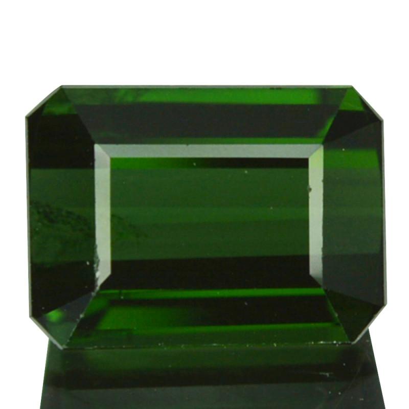 1.64 Cts Natural Neon Green Tourmaline Octagon Cut Nigeria