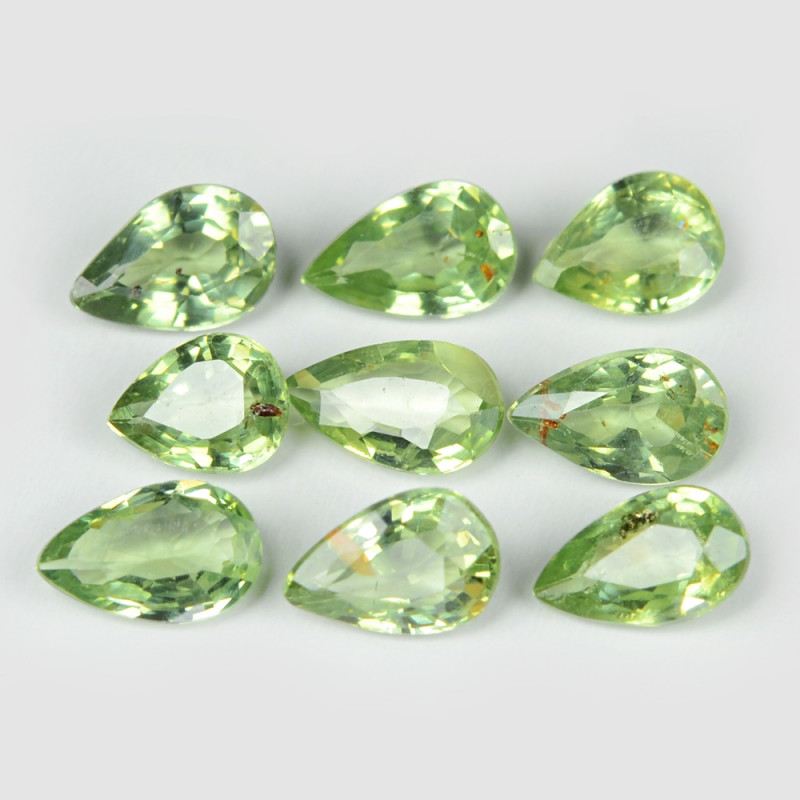 Green Sapphire 2.07 Cts 9 Pcs Amazing Rare Natural Fancy Loose Gemstone