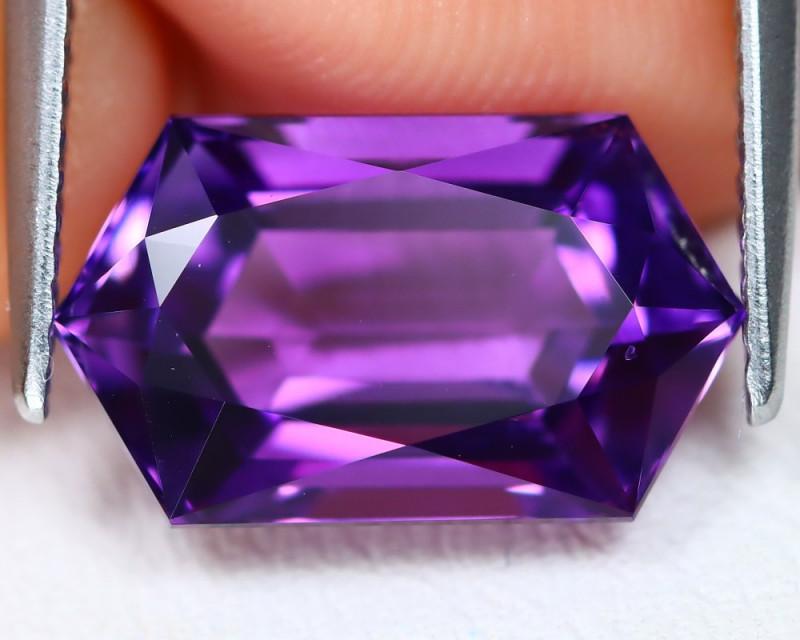 Uruguay Amethyst 4.47Ct VVS Master Cut Natural Violet Amethyst B2003