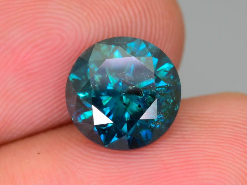 Blue Diamond 3.55 ct Top Grade Brilliance SKU-27