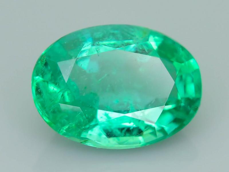 1.81 ct Zambian Emerald Vivid Green Color SKU-35