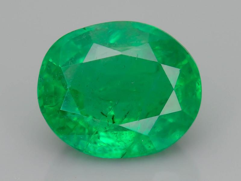 2.57 ct Zambian Emerald Vivid Green Color SKU-36