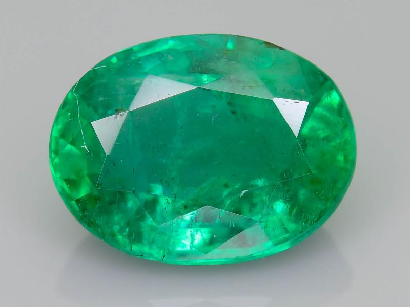 1.53 ct Zambian Emerald Vivid Green Color SKU-36