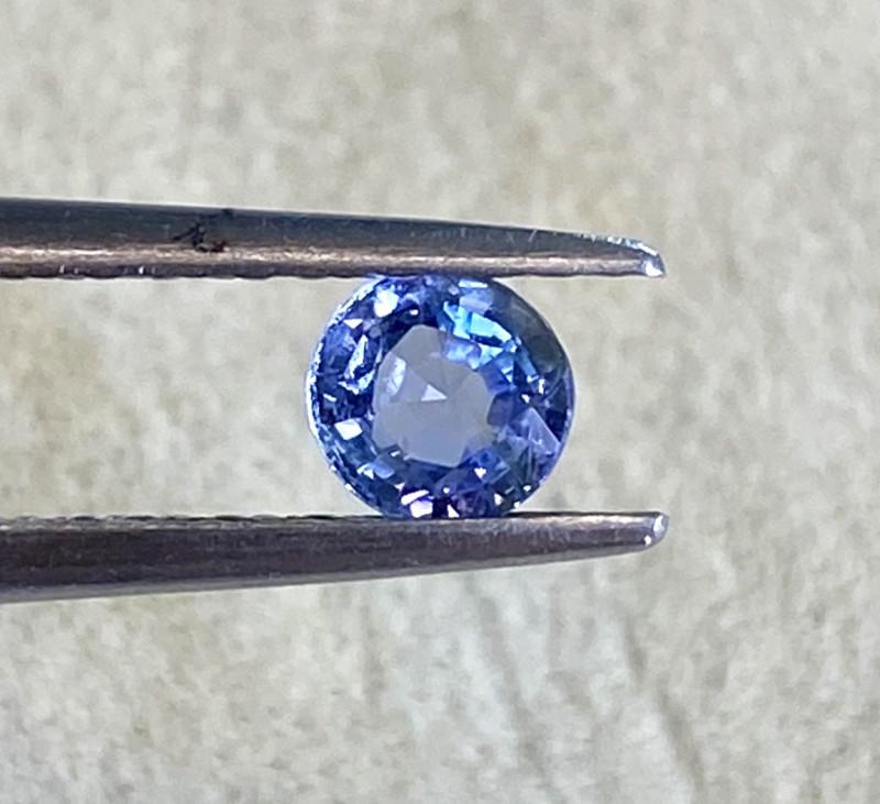 0.44ct unheated blue sapphire