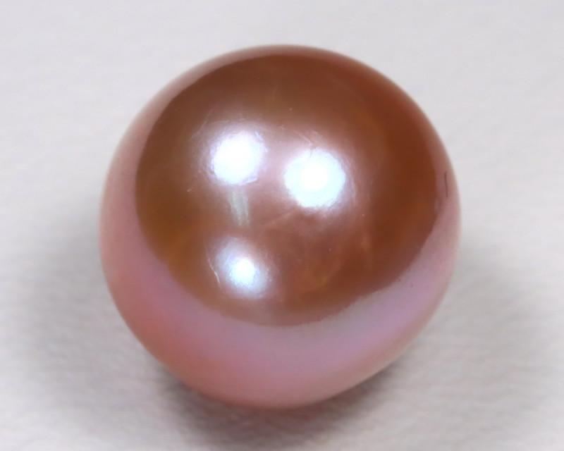 South Sea Pearl 11mm Natural Australian Pink Salt Water Pearl B2411