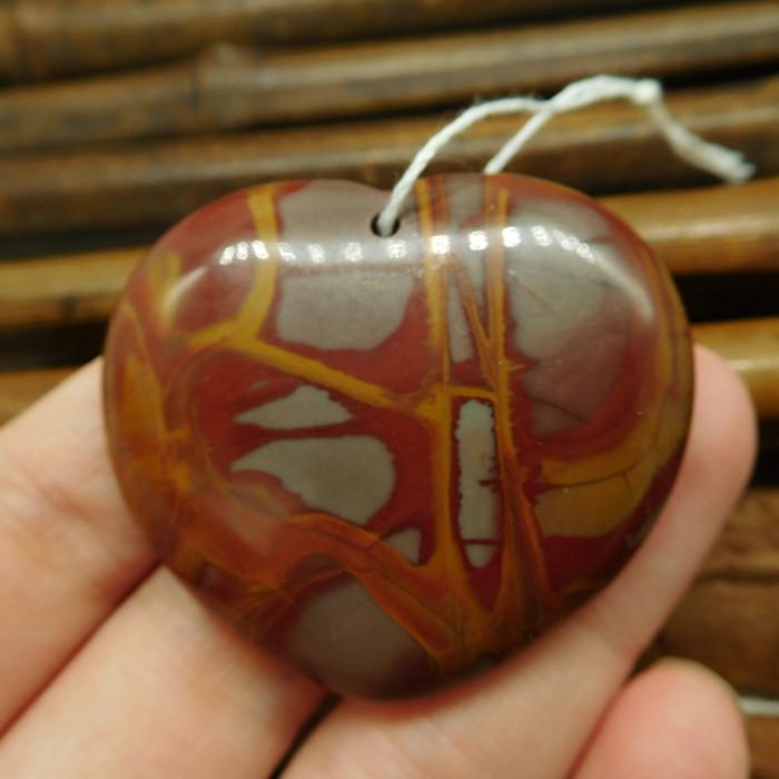 Heart shape picture jasper pendant (G2438)