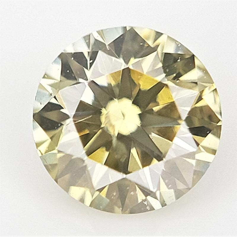 0.11 cts , Round Natural Diamond , Fancy Colored Diamond