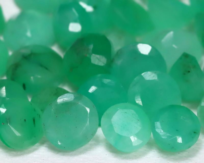 Zambian Emerald 6.38Ct 30Pcs Natural Green Zambian Emerald B2434
