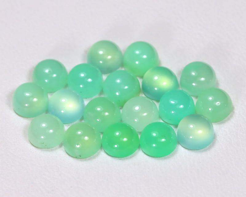 Chrysoprase 10.69Ct 18Pcs Natural Green Color Chrysoprase Lot B2405