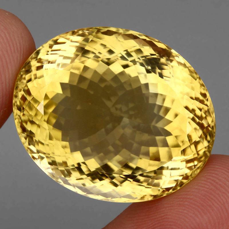 Clean 81.81 Ct .100% Natural AAA Rich Yellow Citrine Brazil
