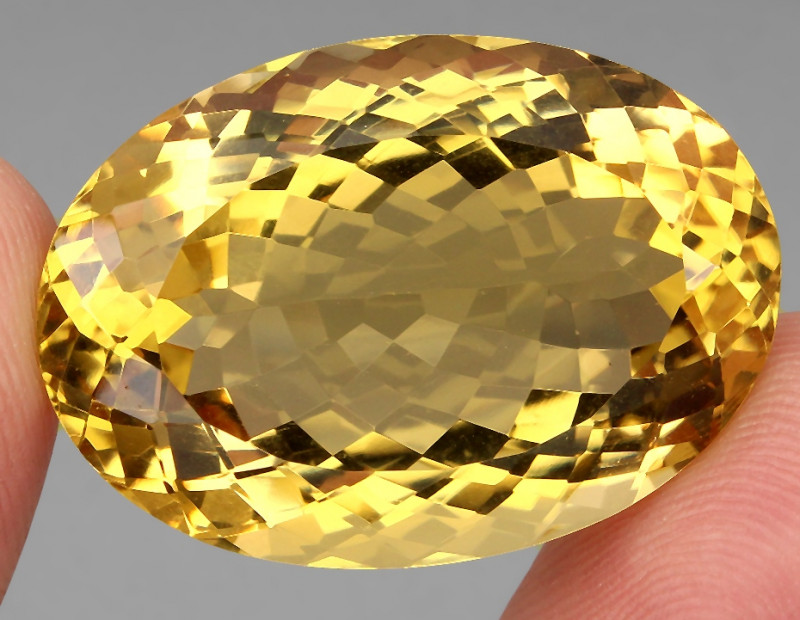 57.43 ct. Top Quality Natural Golden Yellow Citrine Brazil Unheated