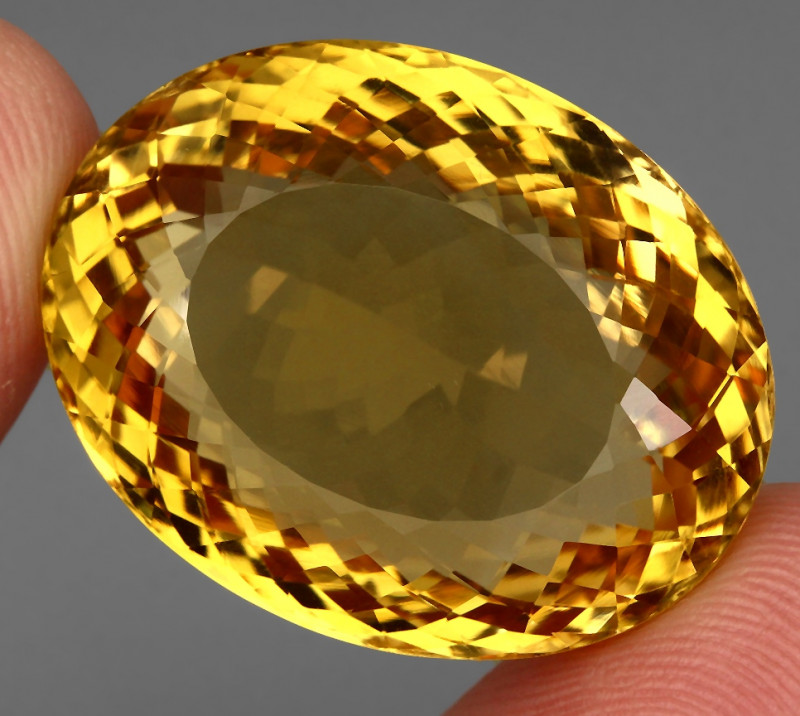 61.44 ct. Top Quality Natural Golden Yellow Citrine Brazil Unheated