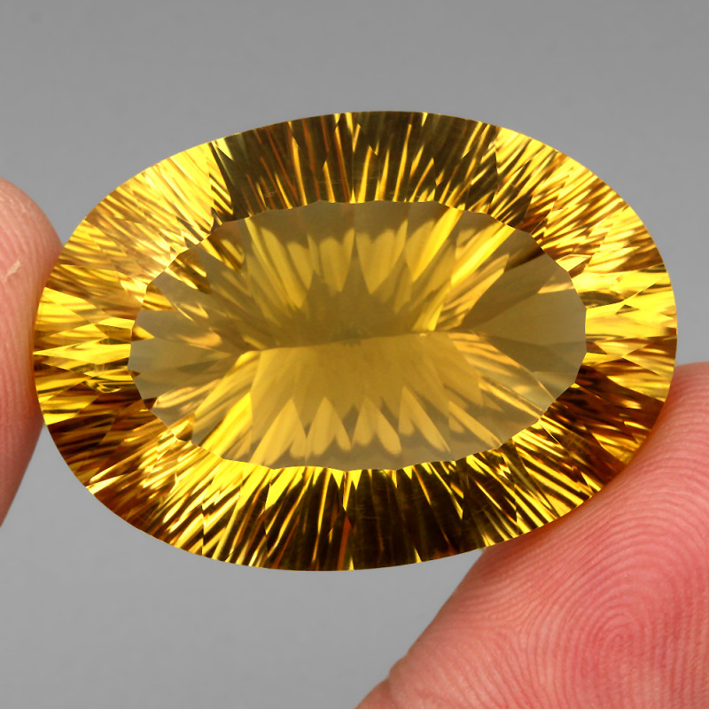 55.60 ct. 100% Natural Earth Mined Unheated Top Yellow Golden Citrine Braz