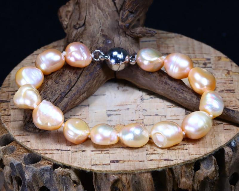 126.45Ct Natural Fresh Water Pearl Beads Bracelet B2699