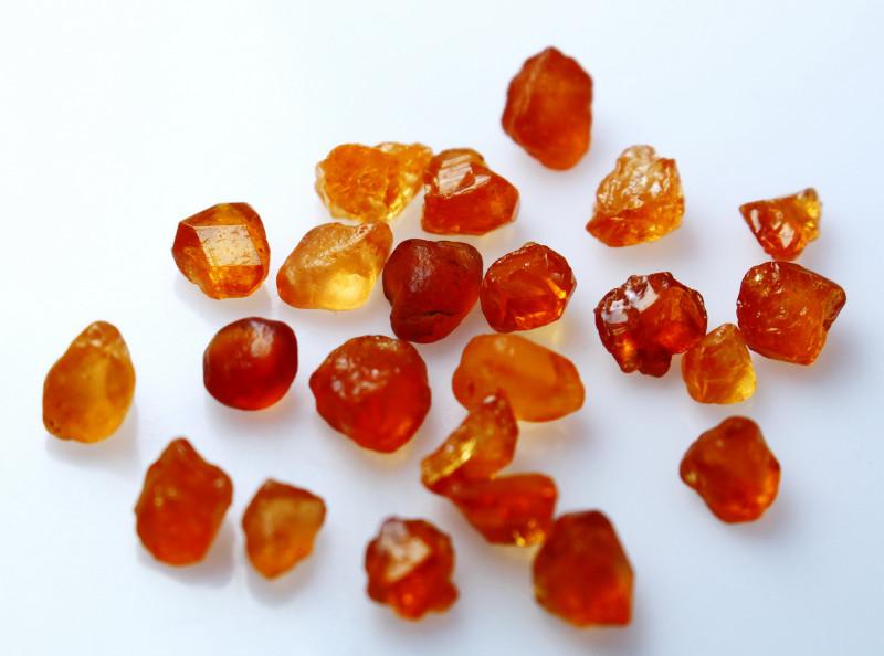 26.20 CT Natural - Unheated Orange Garnet Rough Lot