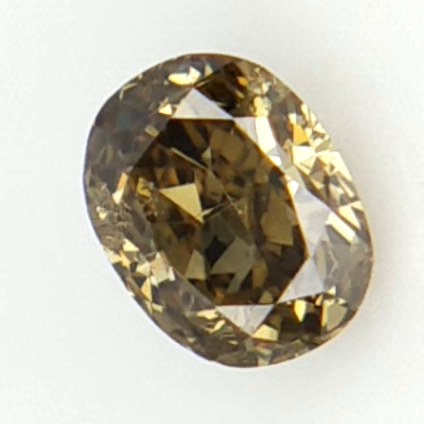 0.11 ct , Oval Brilliant Cut , Natural Fancy Colored Diamond