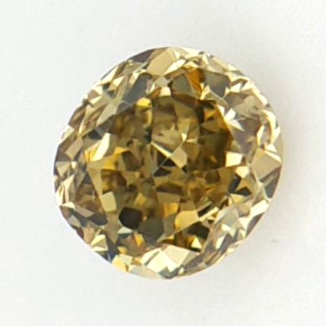 0.14 cts , Oval Brilliant Cut , Natural Color Diamond