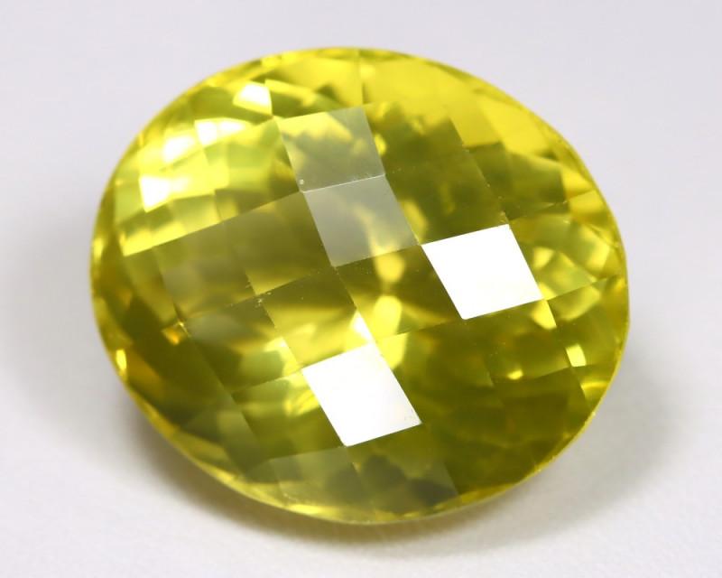 Lemon Quartz 43.94Ct VS2 Oval Cut Natural Lemon Quartz AB2821