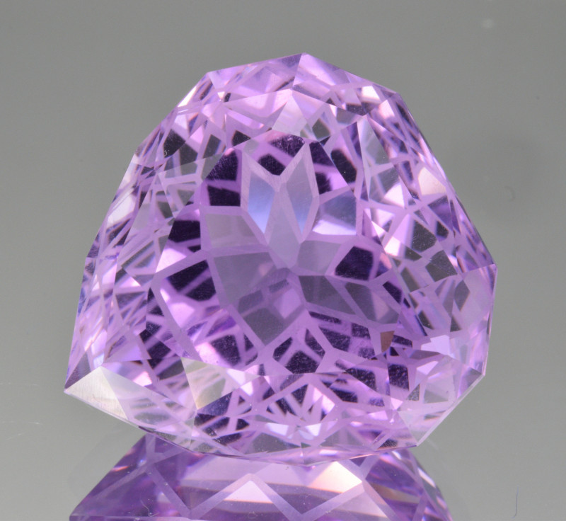 Natural Amethyst 39.47  Cts Precision  Cut, Top Quality Gemstone