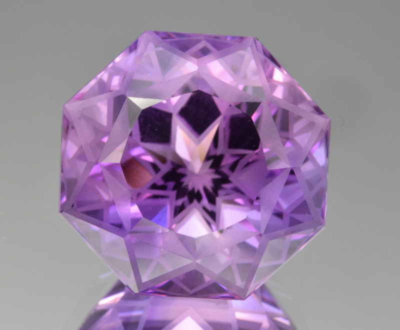 Natural Amethyst 36.28  Cts Precision  Cut, Top Quality Gemstone