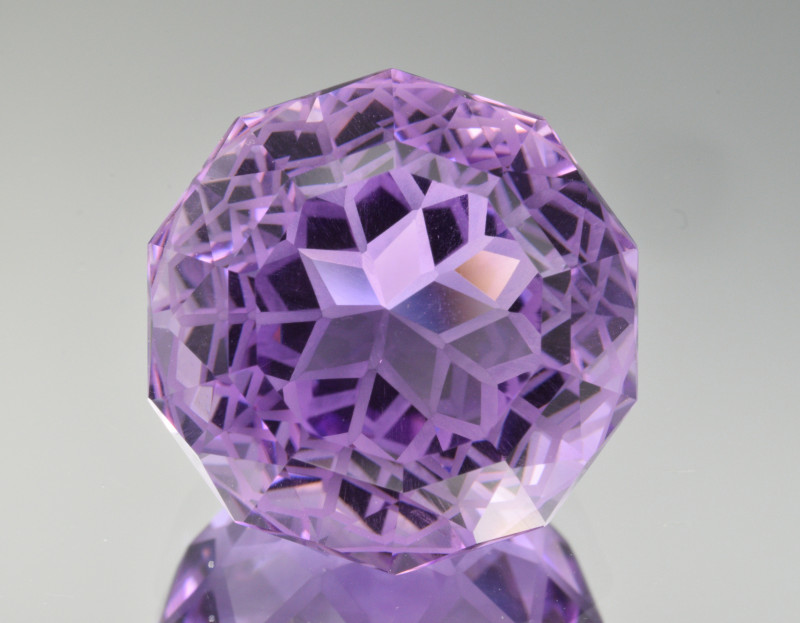 Natural Amethyst 22.43 Cts Precision  Cut, Top Quality Gemstone