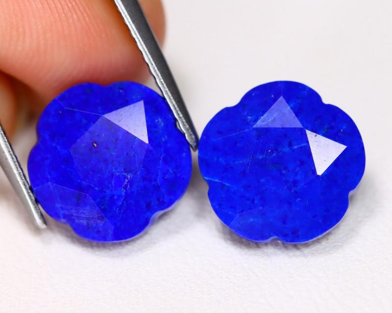 Lapis Lazuli 6.85Ct 2Pcs Natural Afghanistan Blue Lapis Lazuli AB2746