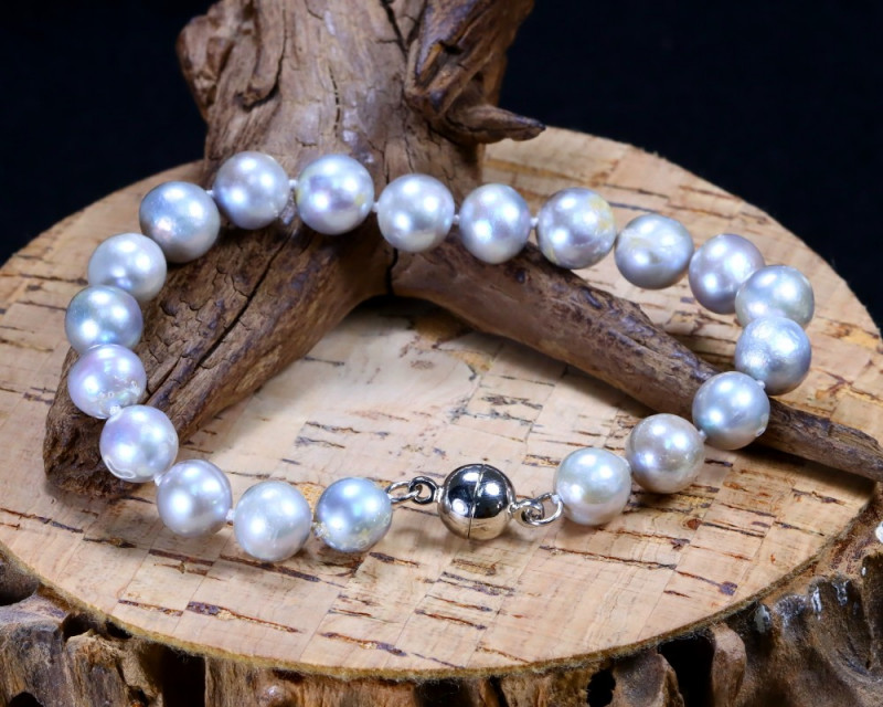 89.30Ct Natural Fresh Water Pearl Beads Bracelet B2846