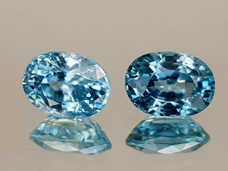 2.51Crt Blue Zircon Natural Gemstones JI28