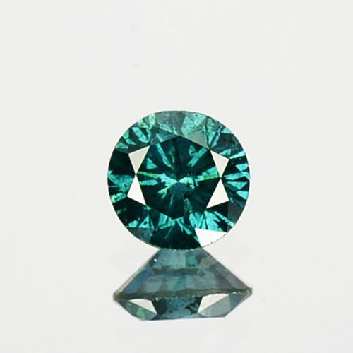 0.19 Cts Natural Electric Blue Diamond Fancy Round Cut 3.50mm  Africa
