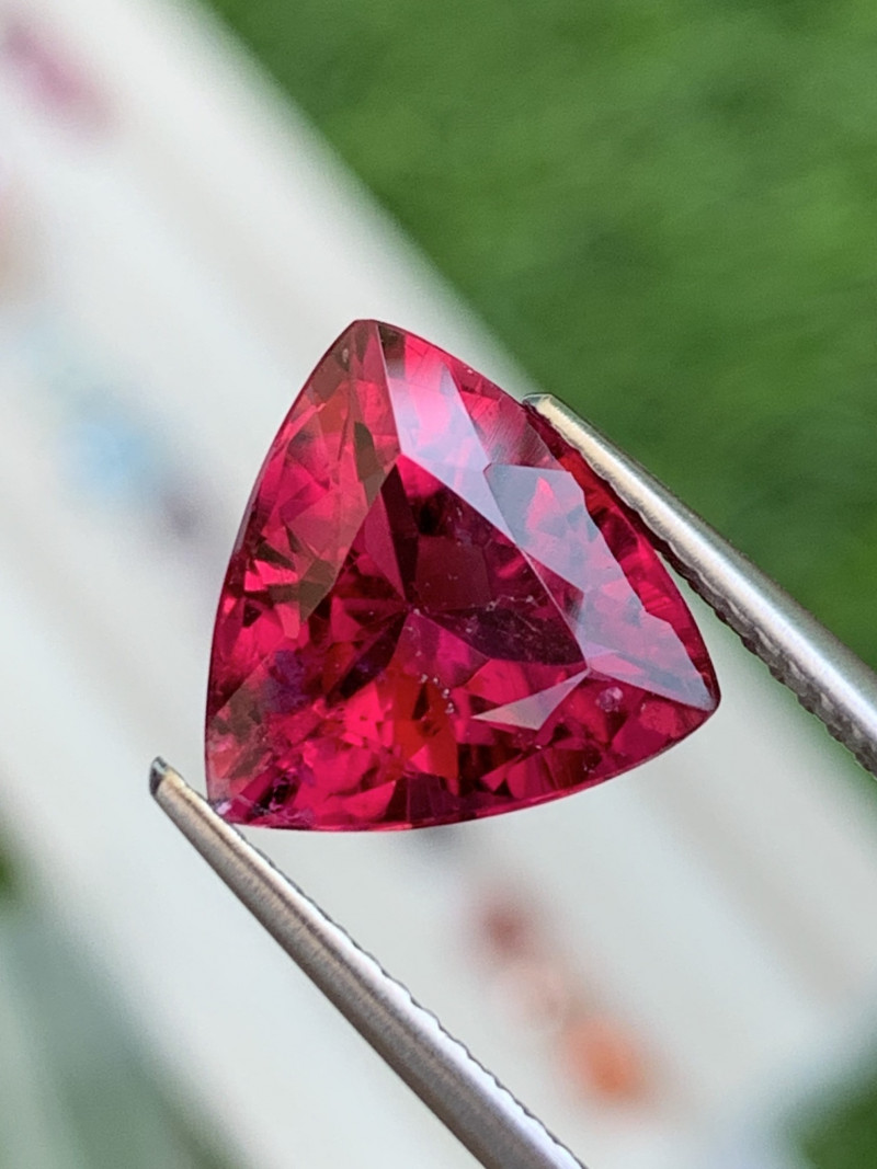 4.18 Cts AAA Grade Vivid Red Natural Rubellite Brazil