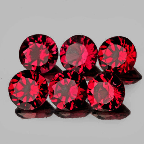 3.20 mm Round 6 pcs 0.83ct Pinkish Red Spinel [VVS]