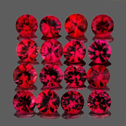 2.00 mm Round 25 pcs 0.95ct Red Spinel [VVS]