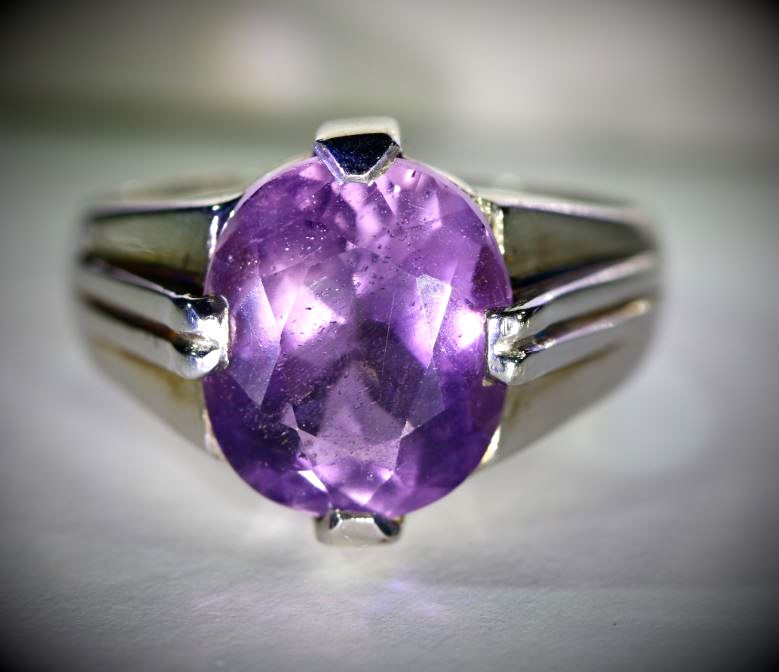 Amethyst 6.51ct Solid 925 Sterling Silver Ring