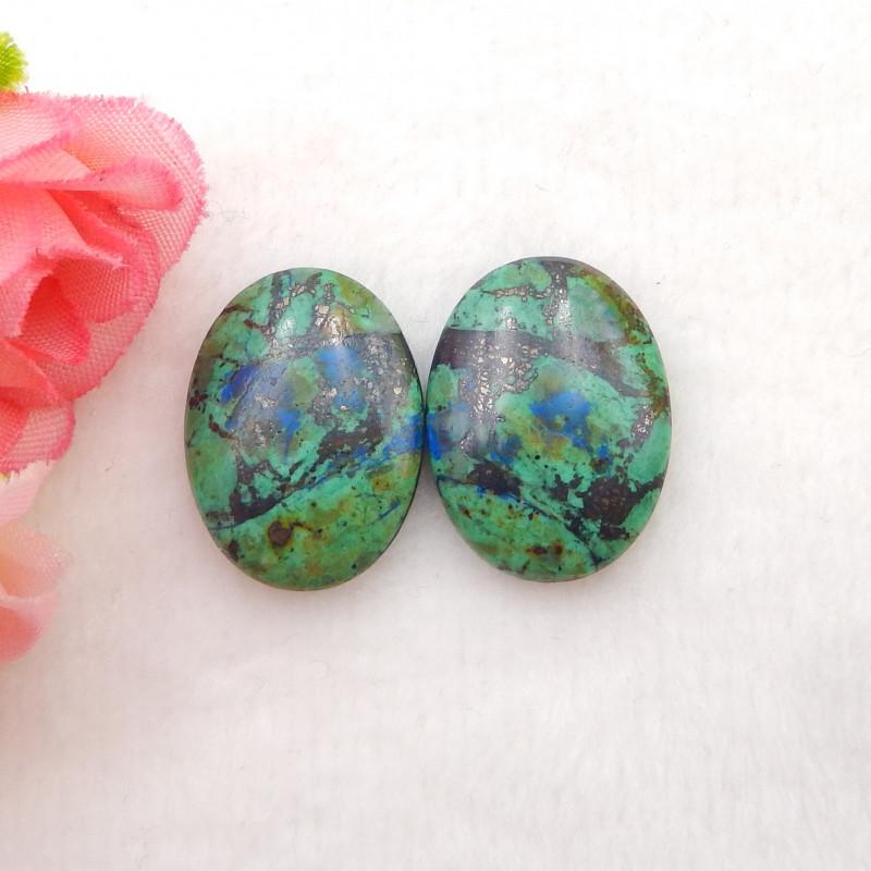 31.5Cts Natural Chrysocolla Gemstone Cabochons ,Chrysocolla Gemstone H905