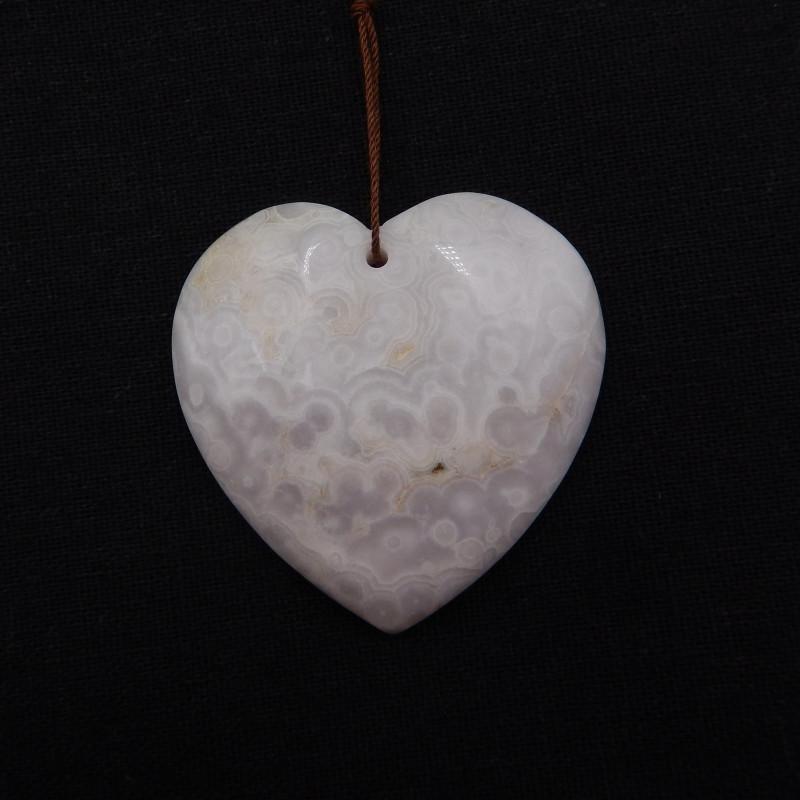 169cts Agate Pendant ,Natural Gemstone Pendant ,Heart Pendant ,Wholesale H9