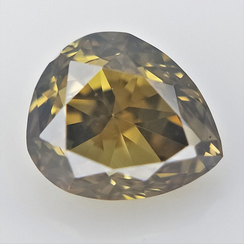 0.18 cts , Pear Shaped Diamond  , Fancy Color Diamond