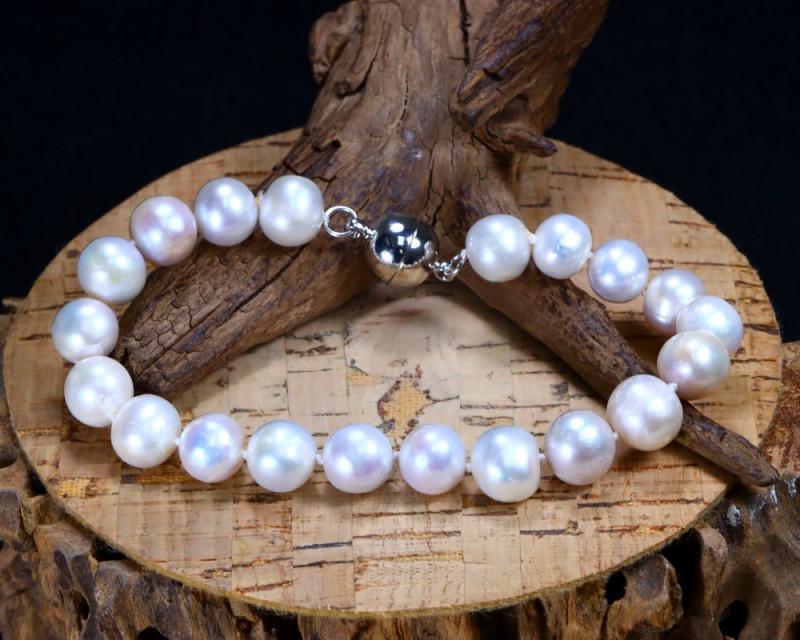 121.60Ct Natural Fresh Water Pearl Beads Bracelet AB3143